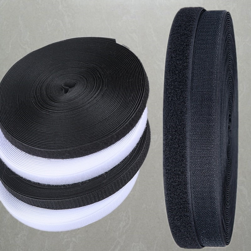 24Meter/Pair 10/16/20/25mm adhesive Hook and Loop fastener Tape No Glue velcros adhesive Sewing-on strips Magic tape