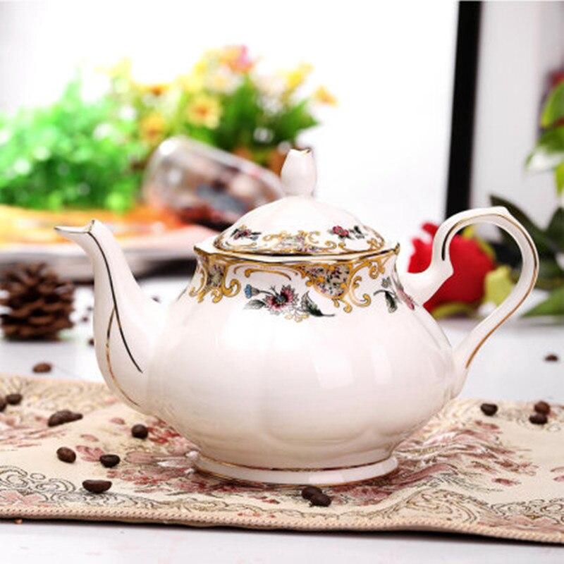 الصين سعة كبيرة الإنجليزية إبريق قهوة نمط الرجعية بعد الظهر إبريق الشاي العظام الصين طقم فناجين قهوة اكسسوارات القهوة كوب بارتين