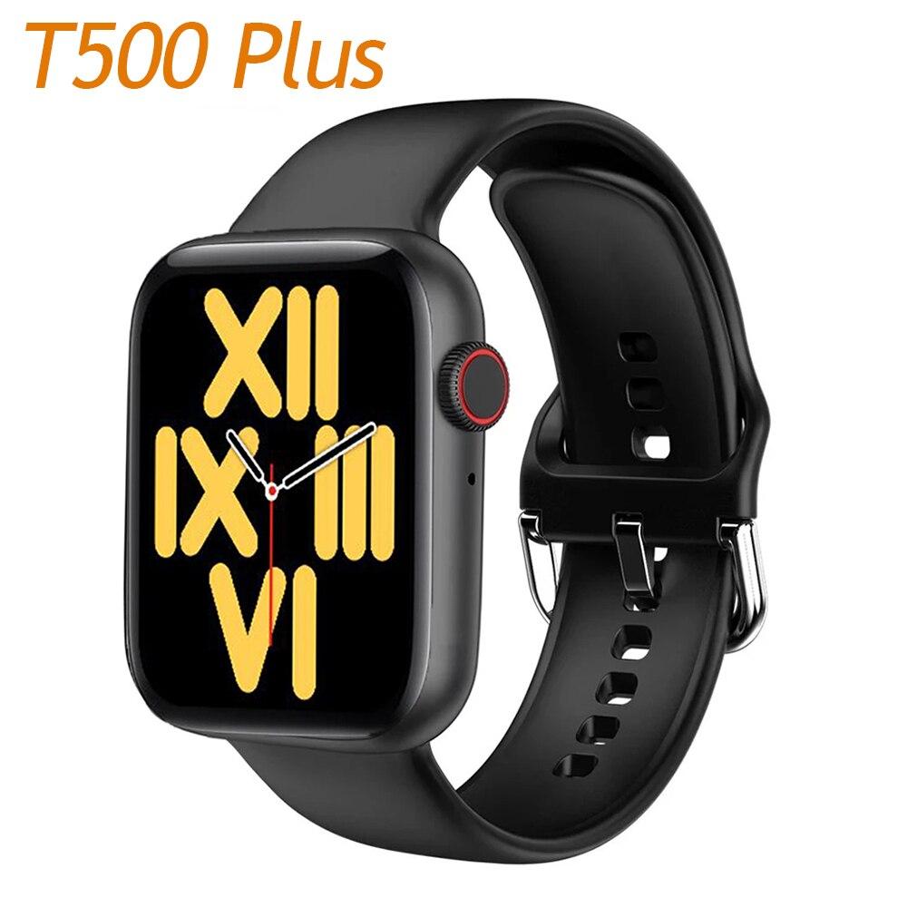 Plein écran tactile T500 Plus IWO 12 Bluetooth appel femme Smartwatch horloge de sport hommes fréquence cardiaque montre intelligente