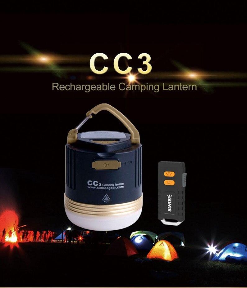 SUNREI CC3 قابلة للشحن في الهواء الطلق مخيم مصباح مصباح طوارئ المحمولة مقاوم للماء تسلق LED فانوس الشمسية USB بطارية 9900mAh