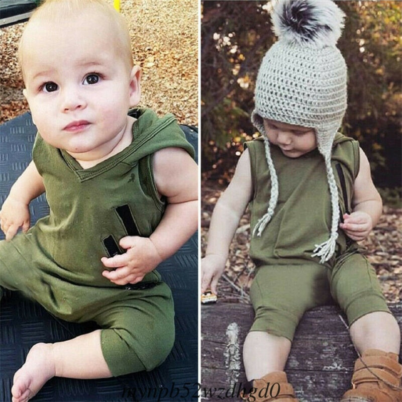 Pudcoco New Arrival Sleeveless Newborn Infant Baby Boys Girls Hooded Romper Jumpsuit Summer Clothes