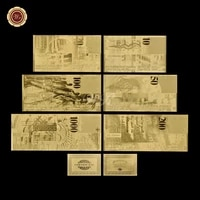 wr 6pcslot gold foil switzerland banknotes with frame silver fake money bills banknote collection gift certificate dropshipping
