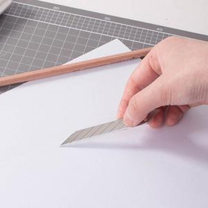 Image 3 - CNGZSY 50 шт. лезвий 9 мм 30 градусов нержавеющая сталь наконечник для универсального ножа школьные и офисные канцелярские принадлежности упаковочная упаковка художественный резак E03