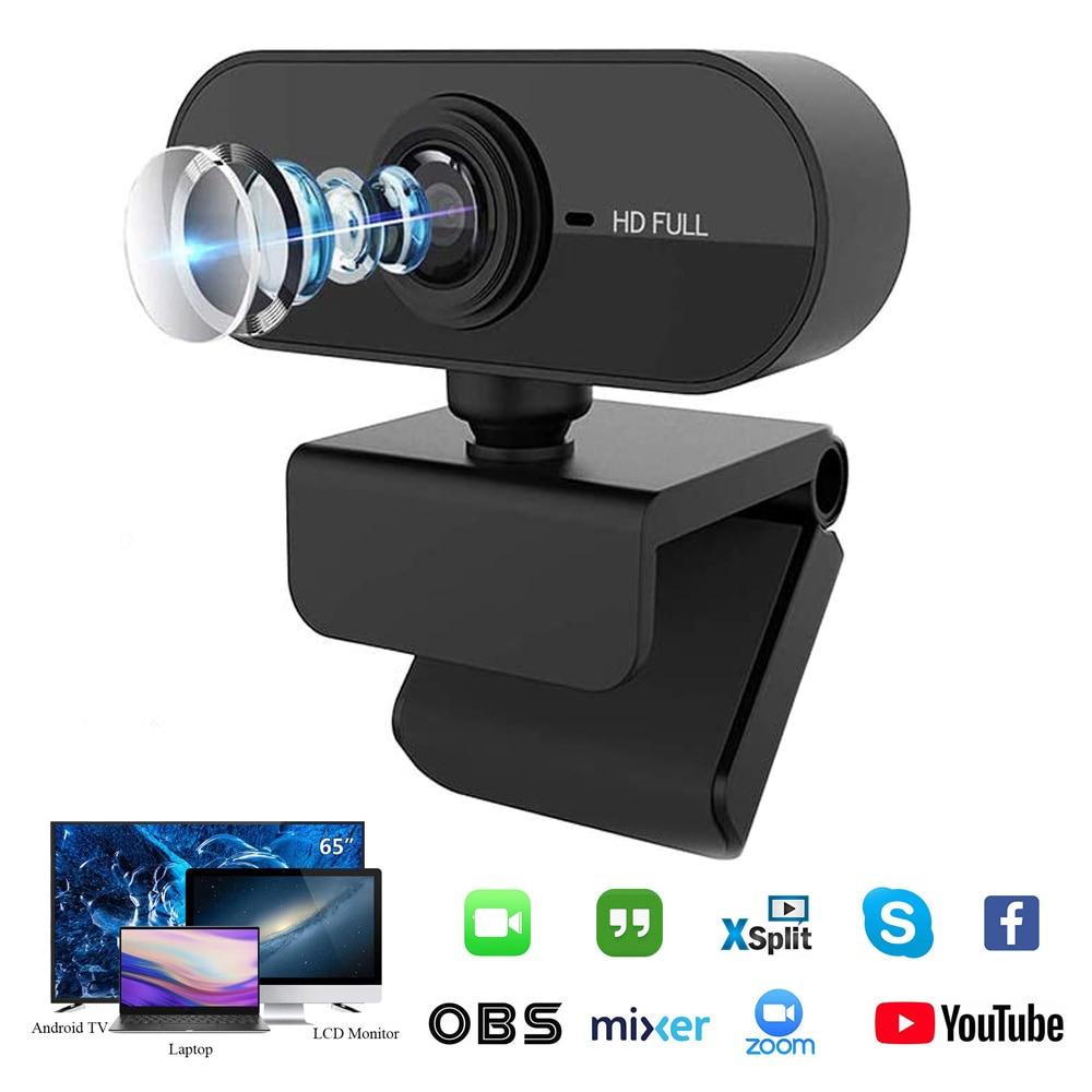كاميرا 1080P كاميرا ويب مع ميكروفون الويب كاميرا بـ USB كامل HD 1080P كاميرا كاميرا ل جهاز كمبيوتر شخصي لايف مكالمات الفيديو العمل