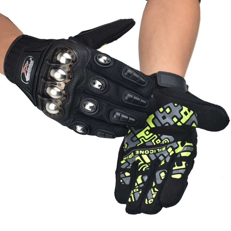 Motorcycle Gloves Motocross Gloves Racing Full Silicon Printing Jelly Color Protector Shell Touch Screen Design Gloves MAD10D