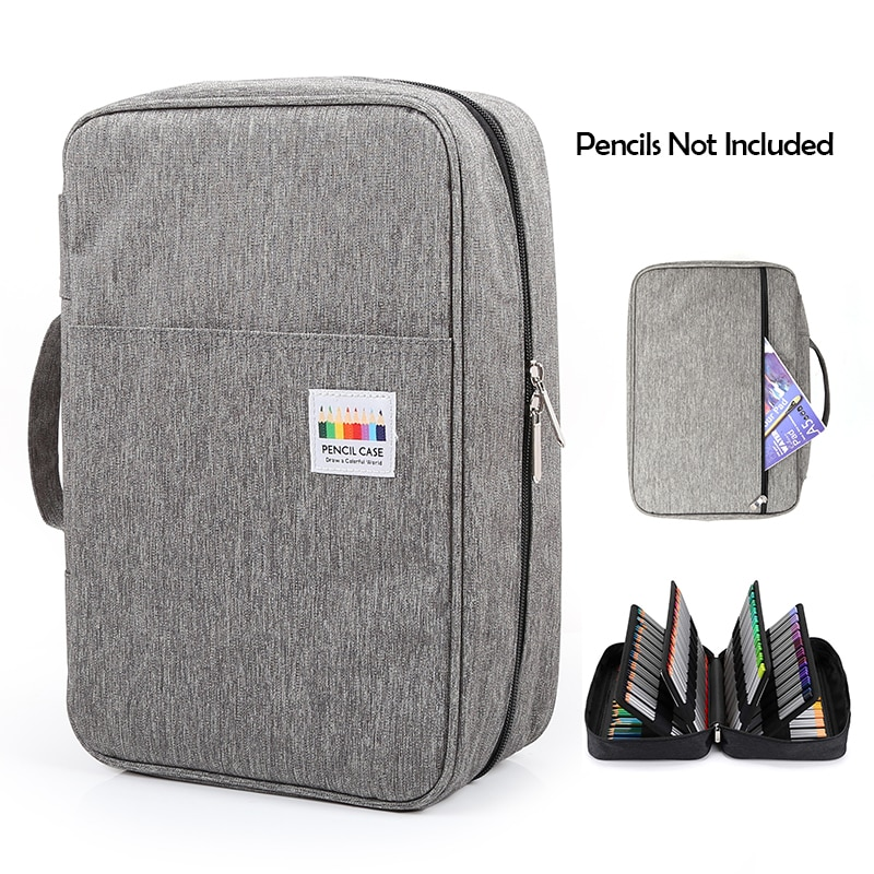 300 Slots Big Large Capacity Pencil Bag Case Organizer Cosmetic Bag For Colored Pencil Watercolor Markers Gel Pens Great Gifts