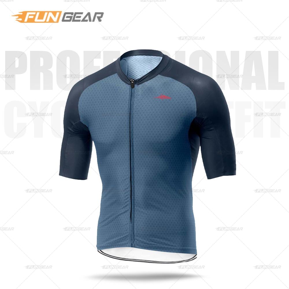 Pro Team Cycling Jersey Men Cycle Clothing Road Bike Uniform Short Sleeve Top Triathlon Bicycle Clothes MTB Summer Sports Shirt