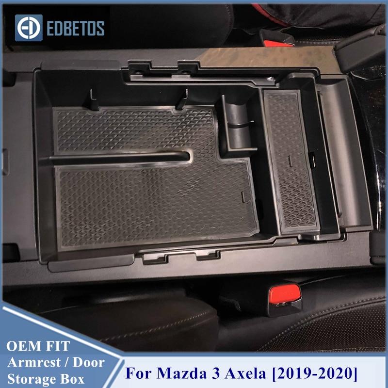 Caja de almacenamiento de reposabrazos para Mazda 3 Axela 2019 2020 organizador de almacenamiento de coche accesorios internos para Mazda3 Axela