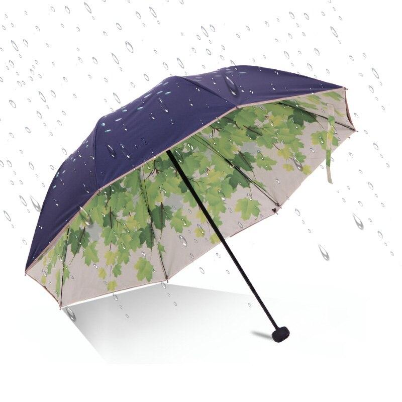 Sombrilla Parasol de doble cubierta, pizarra, protector solar, protector de lluvia, a la moda con triple protección solar, paraguas, paraguas, lluvia, mujer