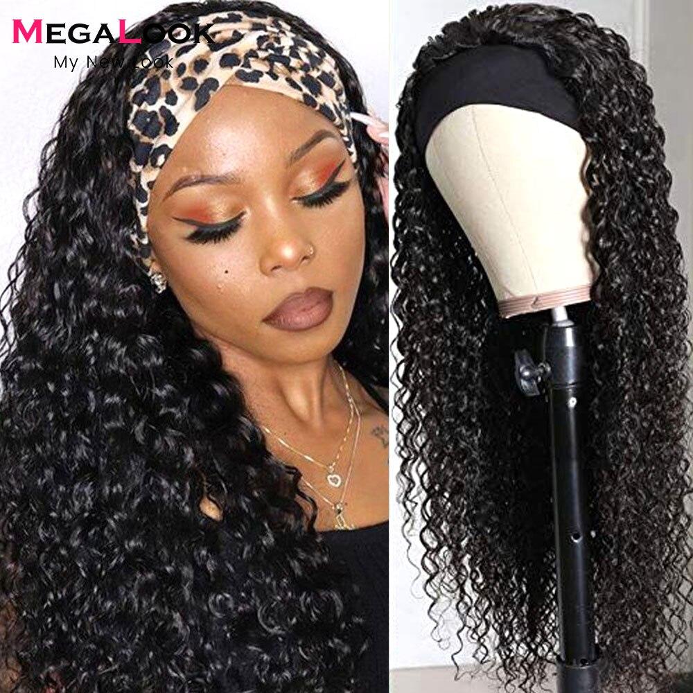 megalook peruca de cabelo humano de ondas profundas para mulheres negras lenco brasileiro