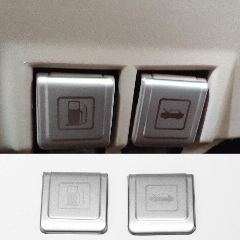 Cubierta decorativa de la manija de abertura del capó de la tapa del Relleno de Combustible 2 uds para Toyota Land Cruiser 100 J100 LC100 LC105 Lexus LX470