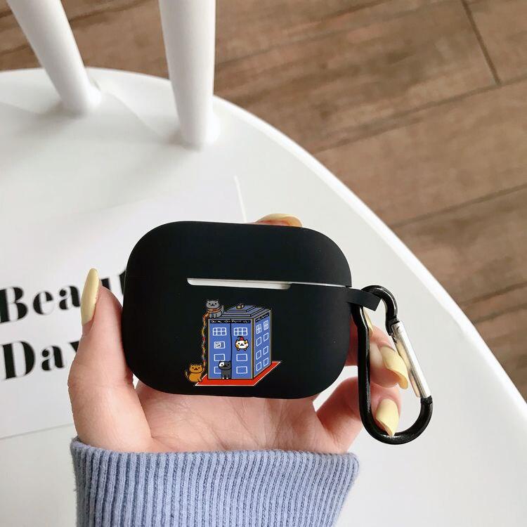 Чехол для наушников Airpods Pro с рисунком аниме Neko atsum, чехол для беспроводного Bluetooth Apple Airpods Pro, чехол, силиконовый чехол чехол
