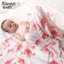 Oganique-couverture en mousseline de coton   Couverture pour bébé semblable à celle de la moderne, couverture pour nouveau-né, serviette respirante enroulée