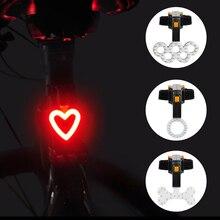 Linterna de carga USB para luz de bicicleta, 4 estilos de luces Led para bicicleta, luz trasera, luces de advertencia para ciclista nocturno, lámpara de ciclismo