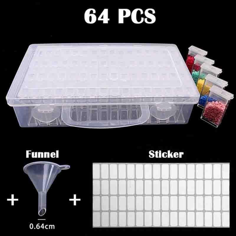 64 Grid Dismountable diamond painting Accessories Diamond Embroidery Cases PP plastics Box Organizer Home Storage boxes