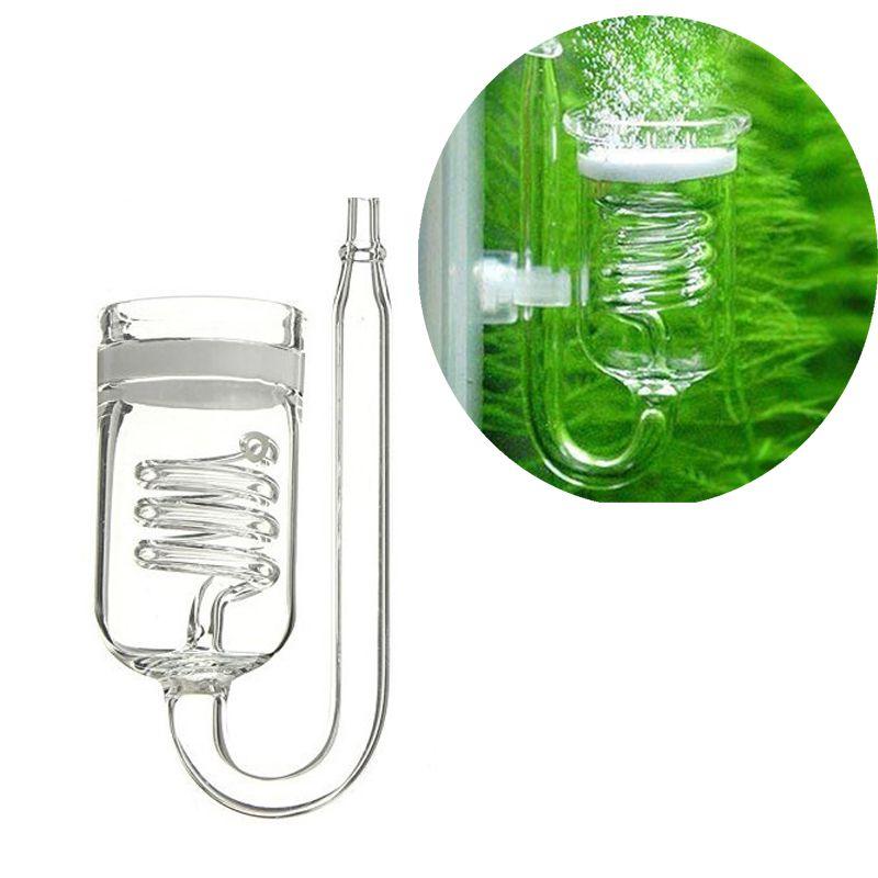 Glass Aquarium CO2 Diffuser Glass Tank Atomizer Solenoid Regulator Moss CO2 Atomizer For Water Plant Tank Moss