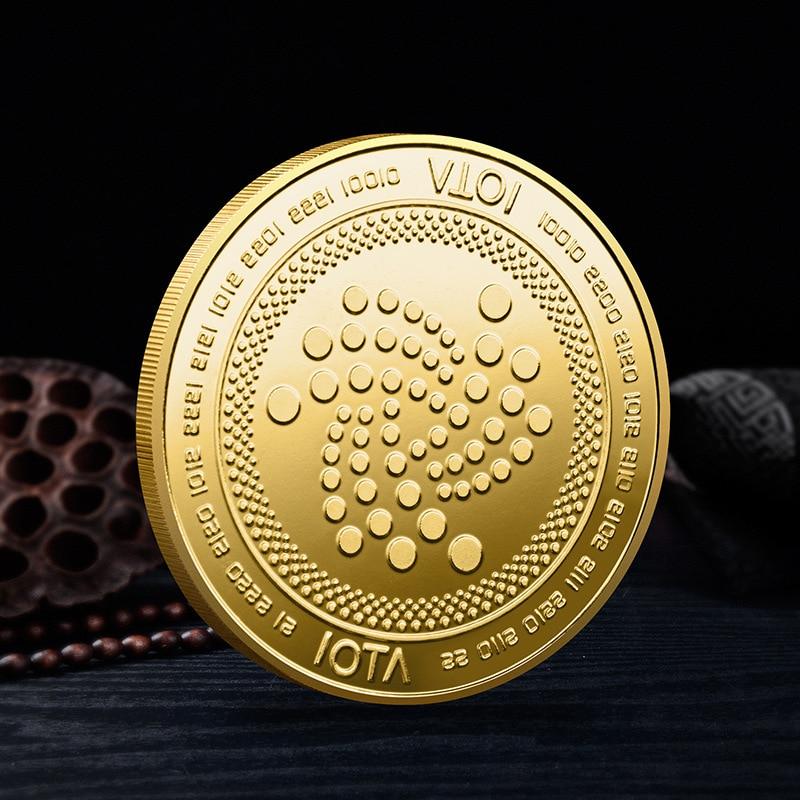 Монета для криптовалюты IOTA, позолоченная Коллекционная монета, криптовалюта, Коллекционная монета, физическая памятная монета, монета IOTA, 1 ...