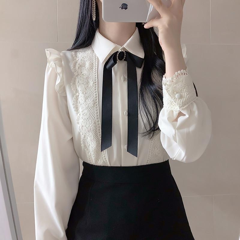 Женская однобортная рубашка с воротником «Питер Пэн» питер пэн