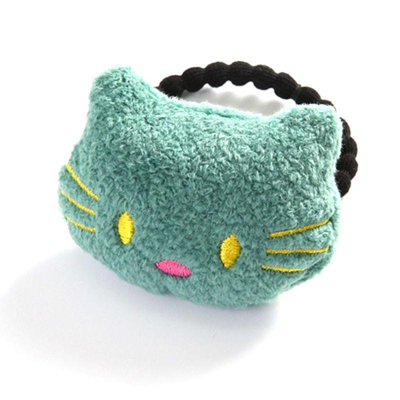 14 estilos coreanos Sweet Girls banda de goma de felpa terciopelo juguete cuerda para el cabello lindo Oso de dibujos animados gato nube muñeca tela artesanal soporte de cola de caballo