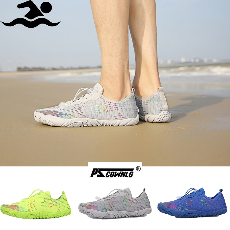 gomnear breathable mesh water shoes male outdoor swimming beach shoes big size anti skid sports trekking shoes summer sneakers Men Shoes Barefoot Diving Swimming Shoes Outdoor Sports Breathable Beach Wading Shoes Male Aqua Seaside Sneakers