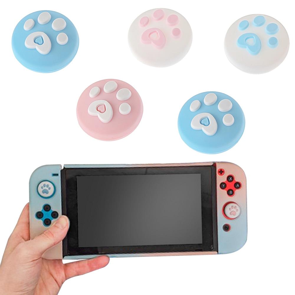 2 uds. De Gel de silicona, tapas de agarre para pulgar, Gamepad, Joystick analógico, funda para Nintendo Switch NS, controlador, Joystick