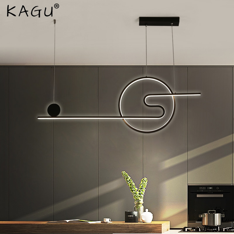 Новый золотистый и черный подвесные светильники для Обеденная Спальня Кухня современный светодиодный внутреннее освещение, люстры светил...