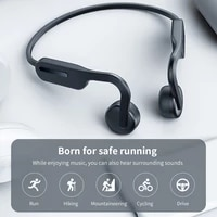 bone conduction headphones wireless sports earphone bluetooth compatible headset hands free with microphone for running