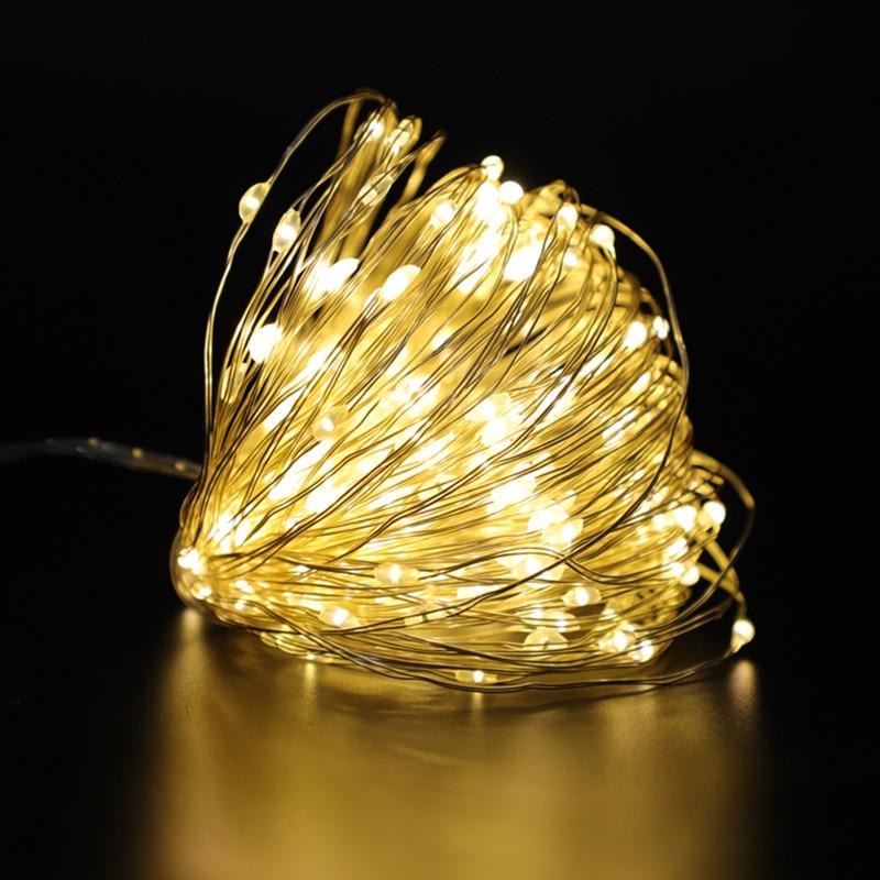 Decor de Crăciun USB ghirlandă alimentată cu baterie 1 ~ 10m LED-uri lumini de zână pentru casă, decor de lumini de Anul Nou