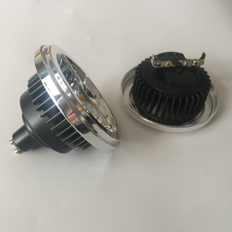 CREE 20W AR111 LED proyector blanco cálido GU10 G53 LED lámparas de techo empotradas downlight forma cilíndrica CREE COB LED Bombilla