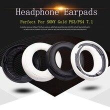 2pc original almofada de ouvido capa almofada earmuff earpads para sony gold sem fio ps3 ps4 7.1 surround virtual fone de ouvido CECHYA-0083 (l + r)