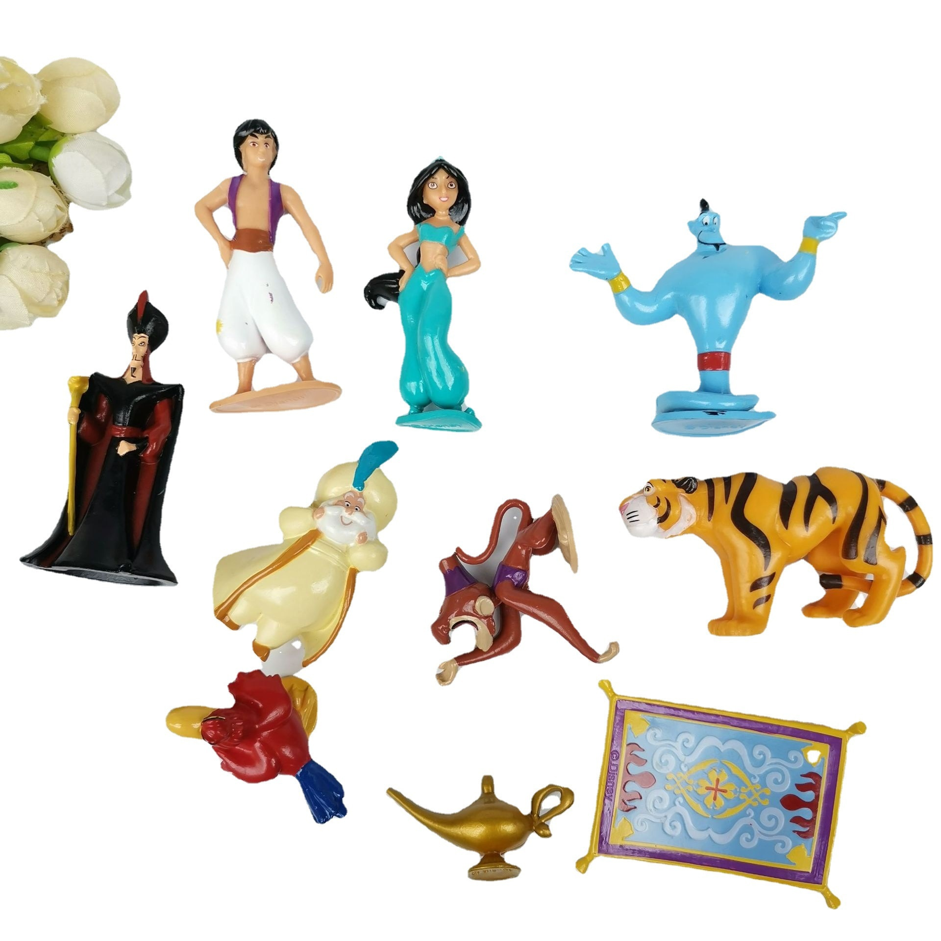 Disney lámpara de Aladdin 10 unids/set figuras de princesas mono malvado Tigre...