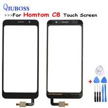 Pour Homtom C8 écran tactile numériseur remplacement pour Homtom C8 écran tactile capteur téléphone accessoires + outils gratuits