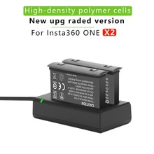 2Pcs For Insta360 ONE X2 1800mAh Battery+LED Dual Charger 360 Panoramic Action Camera x2 Batteries A