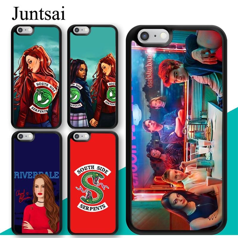 Juntsai Riverdale TV Cheryl Blossom impreso para iphone 11 Pro MAX XR XS MAX X 5S SE 2020 6 7 8 Plus cubierta Coque