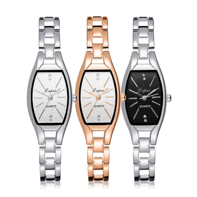 Fashion Watches Rose Gold Casual Quartz Ladies Bracelet Wristwatches Creative Women Luxury Watch Dress Clock New Arrive