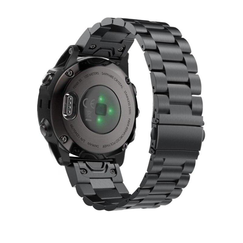 Pulsera de Metal Fenix 6S de 20mm de acero inoxidable, correa de reloj QuickFit de Metal para Garmin Fenix 5S/5S Plus, pulsera de repuesto