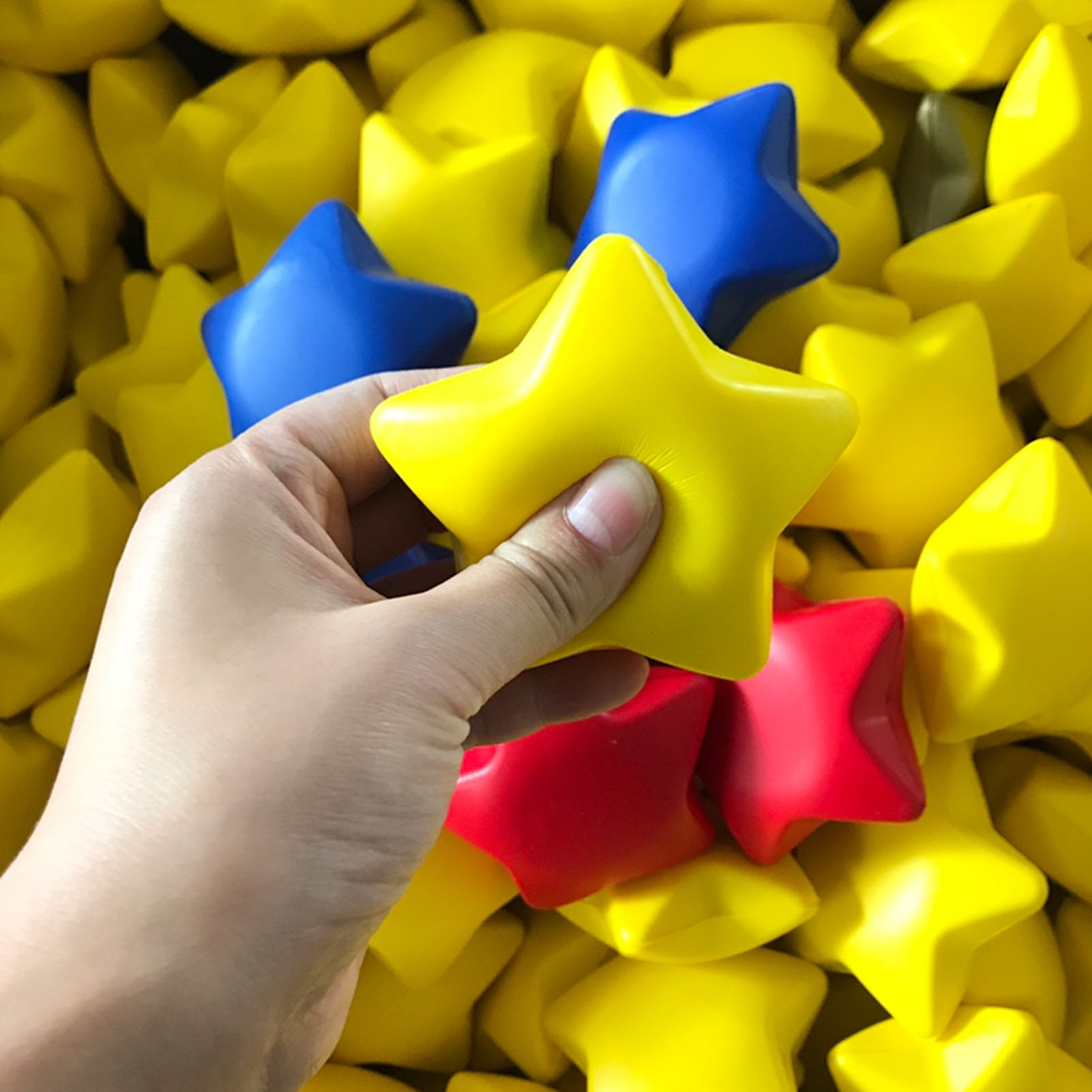 12PCS Five-pointed Star Stress Relief Balls Mini Soft Foam Stress Toys Gift For Kids Decompression Toy Set enlarge