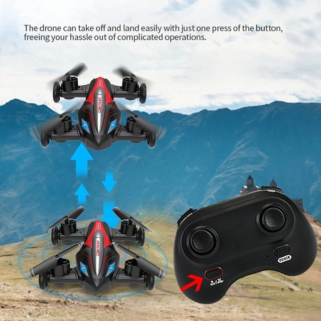 Eachine D85 2in1 Dron Air-Ground Flying Car 2.4G Dual Mode Racing Mini Drone Professional RC Car Quadcopter Drones Children Toys 4