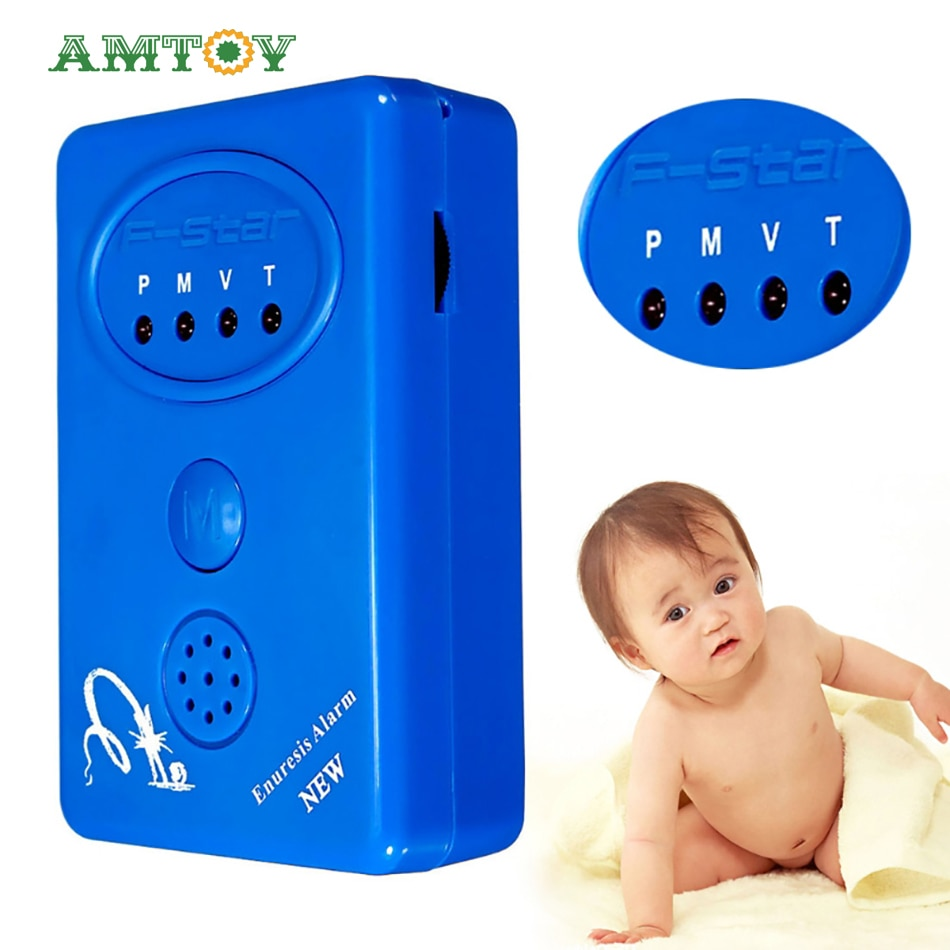 Baby Bedwetting Reminder, Dampness Alarm, Adult Enuresis Reminder + Sensor With Clip, Suitable for Infants and Adults