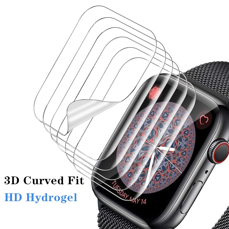 Защитная пленка для экрана, прозрачная полная защитная пленка для Apple Watch 6 SE 5 4 40 мм 44 мм, не закаленное стекло для iWatch 3 2 1 38 мм 42 мм