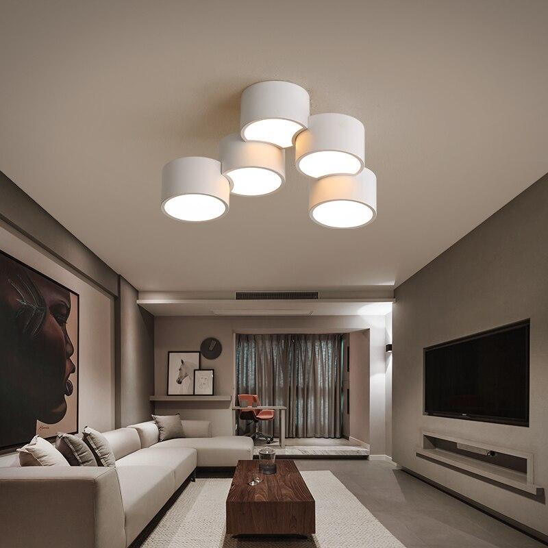 سقف ليد حديث أضواء غرفة المعيشة غرفة نوم بريق دي plafond الحديثة الإنارة plafonnier مصابيح LED مستديرة مصباح السقف للمنزل