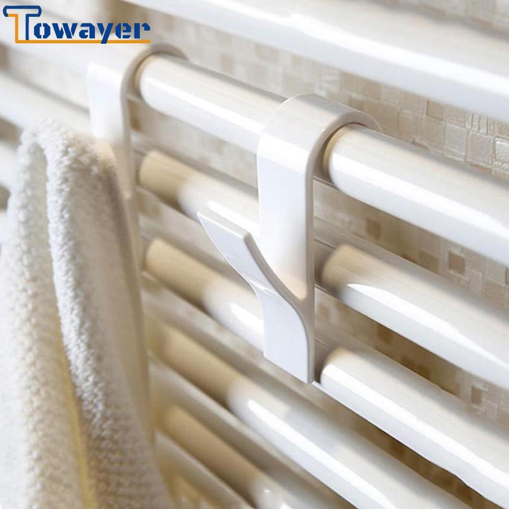 Colgador de toalla calefactable para baño, colgador de ropa con riel de...