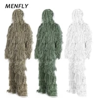 menfly white jungle desert ghillie suit outdoor woodland secret hunting suit mens training field cs camouflage geely suits
