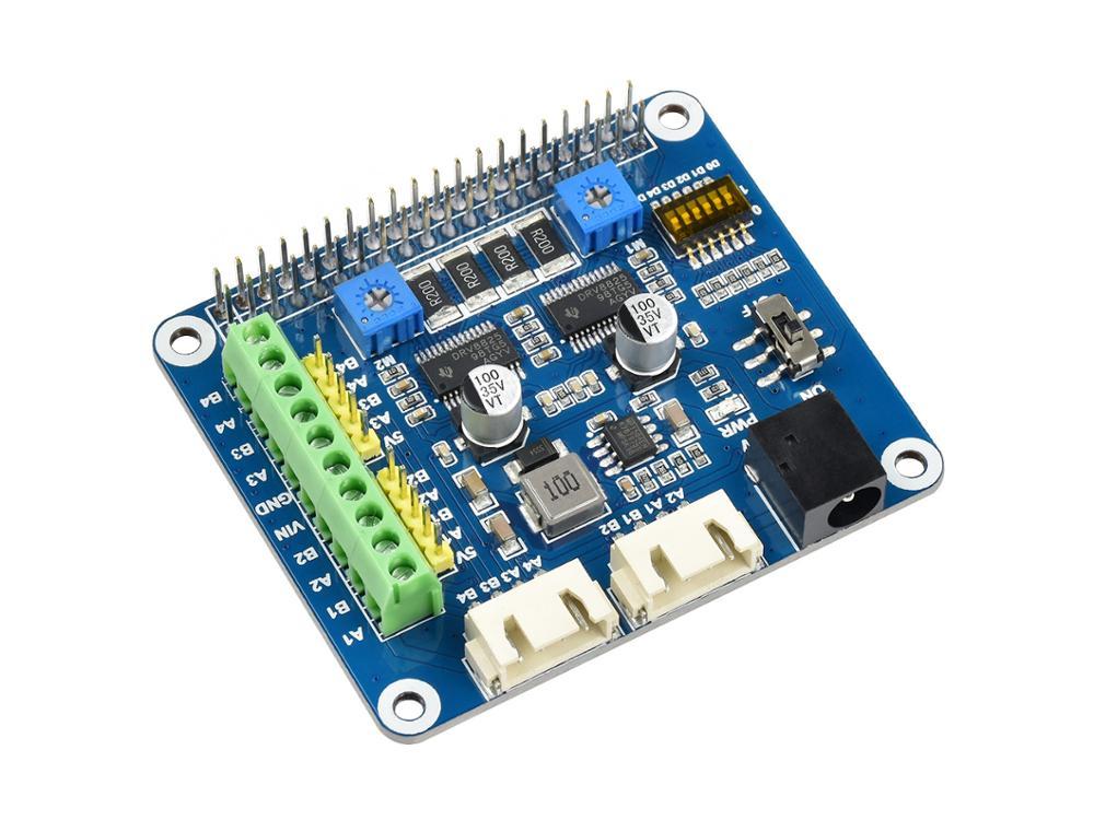 Шаговый двигатель Waveshare для Raspberry Pi, два шагового двигателя, до 1/32 микрошагового двигателя.