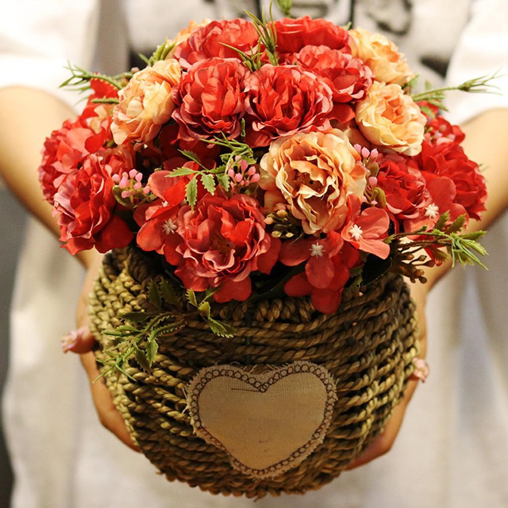 1Pc 30cm Artificial Fake Peony Flower Desktop Ornament DIY Home Wedding Decor Wedding Furnishings