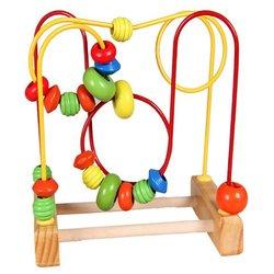 Bebê mini colorido de madeira em torno de contas fio labirinto brinquedos educativos criança aprendizagem precoce interativo matemática brinquedos presente