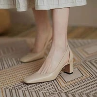summer women pumps 2021 solid female party high heels 6cm high black ladies office work heeled shoes autumn hollow daliy shoes