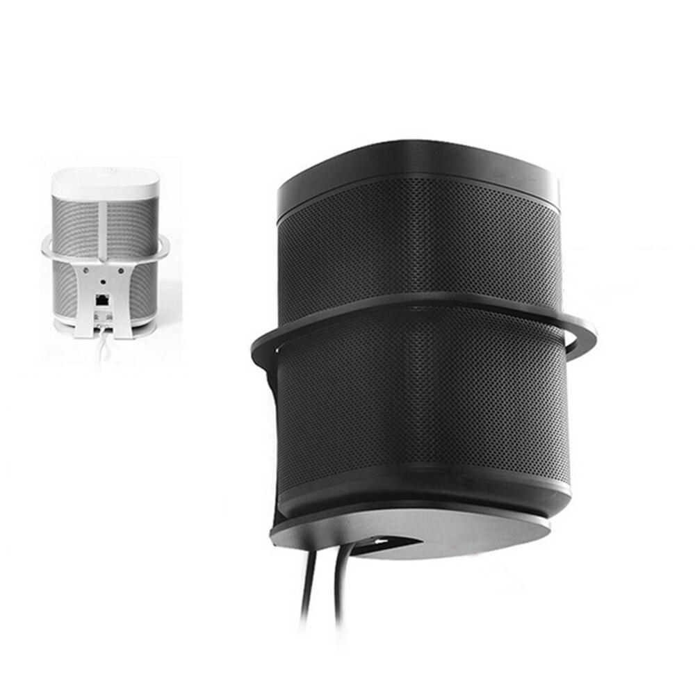 Suporte de montagem na parede de metal suporte de armazenamento resistente para sonos um sl/play 1 acessórios de alto-falante inteligente