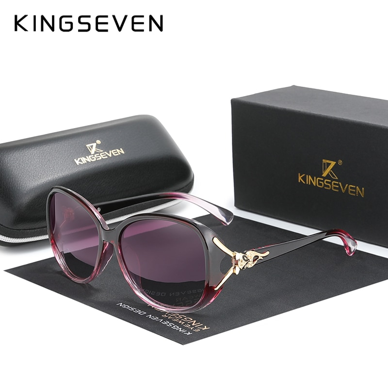 KINGSEVEN HD Sunglasses Polarized Retro Big frame luxury Eyewear Lady Brand Designer Sun glasses Ocu