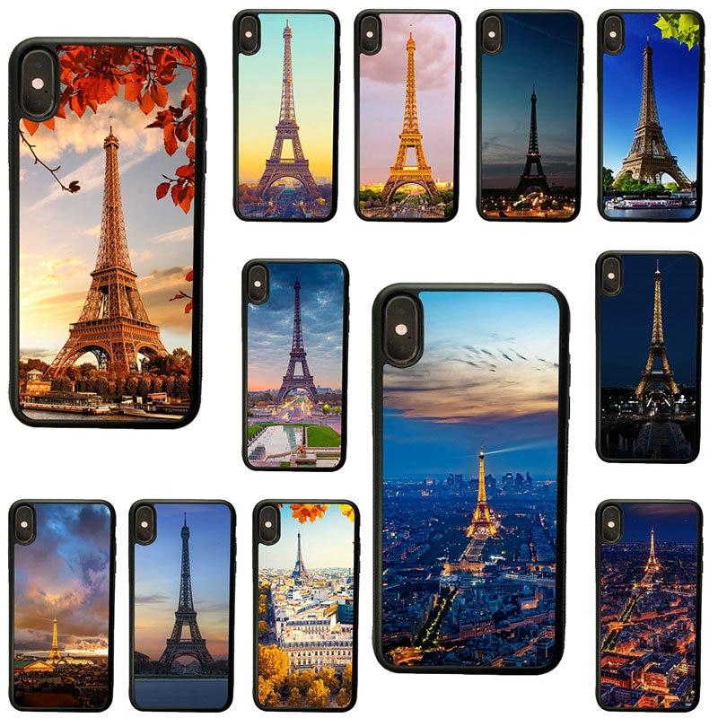 Capa para iphone 8 7 6 6 s plus x xr xs 11 pro max 5S 5 se 4 4S torre eiffel frança paris